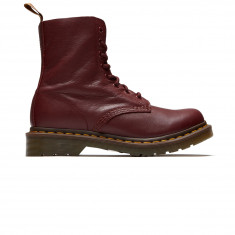 Dr. Martens Womens 1460 8 Eye Pascal Leather Boots - Cherry Red