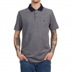 Volcom Wowzer Plaid Polo Shirt - Navy