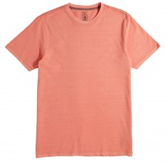 Volcom Pale Wash Solid T-Shirt - Salmon Heather/Light Blue Heather