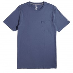 Volcom Solid Pocket T-Shirt - Deep Blue