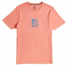 Volcom Pixel Stone T-Shirt - Salmon Heather/Light Blue Heather