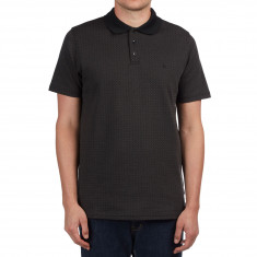 Volcom Wowzer Plaid Polo Shirt - Black