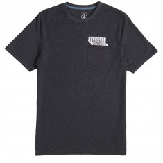 Volcom Bard Pocket T-Shirt - Heather Black