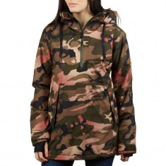Volcom Womens Fern Ins Gore Hoodie - Faded Army