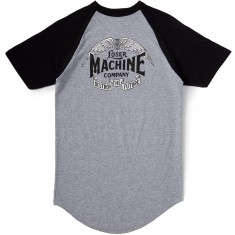 Loser Machine Wingspan Raglan T-Shirt - Heather Grey/Black