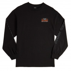 Dark Seas x Grundens Surface Waves Long Sleeve T-Shirt - Black