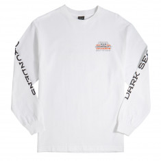 Dark Seas x Grundens Surface Waves Long Sleeve T-Shirt - White