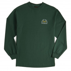 Dark Seas Outlines Long Sleeve T-Shirt - Forest Green