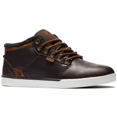 Etnies Jefferson Mid Shoes - Brown/White