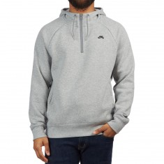 Nike SB Icon Half Zip GFX Hoodie - Dark Grey Heather/Black