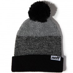 Neff Snappy Beanie - Black/Black-White Heather/Grey
