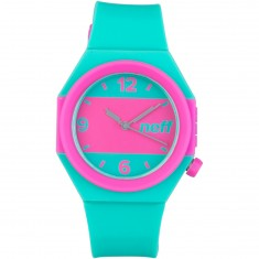 Neff Stripe Watch - Teal/Pink
