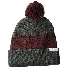 Neff Snappy Beanie - Black Heather/Maroon Heather/Black