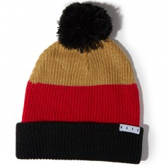 Neff Snappy Beanie - Tan/Red/Black