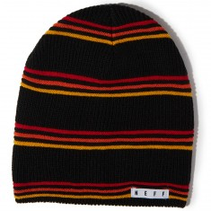 Neff Daily Stripe Beanie - Black/Red/Gold
