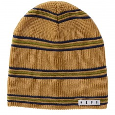Neff Daily Stripe Beanie - Tan/Navy/Olive