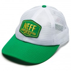 Neff Field Trucker Hat - White/Green