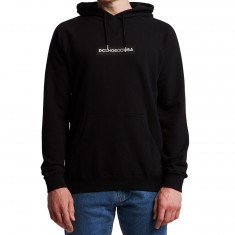 DC Embroidered Hoodie - Black
