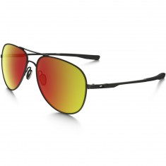 Oakley Elmont L Sunglasses - Satin Black/Ruby Iridium
