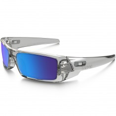 Oakley Gascan Sunglasses - Polished Clear/Sapphire Iridium