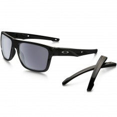 Oakley Crossrange Sunglasses - Polished Black/Grey