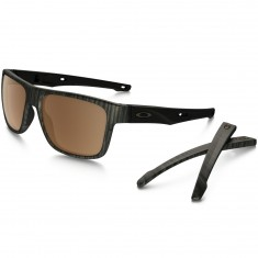 Oakley Crossrange Sunglasses - Woodgrain/Prizm Tungston Polarized