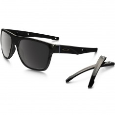 Oakley Crossrange XL Sunglasses - Polished Black/Prizm Black Polarized