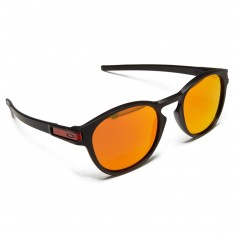 Oakley Latch Sunglasses - Matte Black/Prizm Ruby