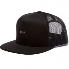 HUF Box Logo Trucker Hat - Black