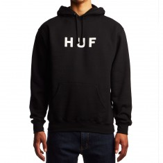Huf Original Logo Fleece Hoodie - Black