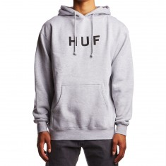 Huf Original Logo Fleece Hoodie - Grey Heather
