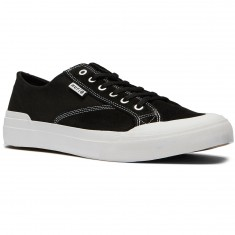 HUF Classic Lo Ess Shoes - Black Suede/White