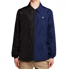 Huf Circle H Coaches Jacket - Black/Blue