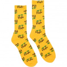 Huf Kingston Crew Socks - Yellow
