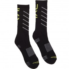 Huf Fit Performance Crew Socks - Black