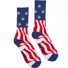Huf Legalize Freedom Crew Socks - Red/White/Blue