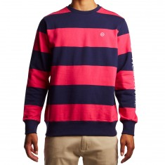 Huf Catalina Stripe Crew Fleece Shirt - Magenta