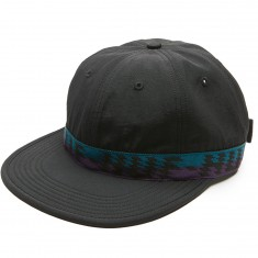 Huf Landers Formless 6 Panel Hat - Black