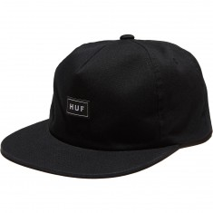 Huf Bar Logo Snapback Hat - Black