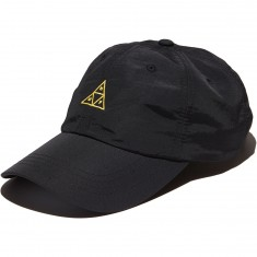 Huf Trip Tri Curved Visor 6 Panel Hat - Black