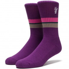 Huf 1984 Stripe Crew Socks - Purple
