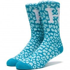 Huf Cheetara Crew Socks - Blue