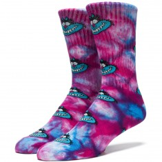 Huf Mad Kat Crew Socks - Purple