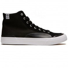 HUF Classic Hi ESS Shoes - Black/Black/White