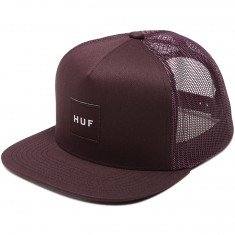 Huf Box Logo Trucker Hat - Plum