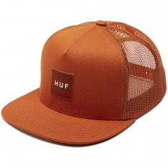 Huf Box Logo Trucker Hat - Terra Cotta