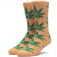Huf Green Buddy Crew Socks - Orange