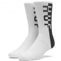 Huf Split Crew Socks - White