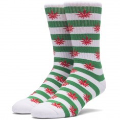 Huf Plantlife Candy Cane Socks - Green