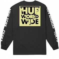 Huf International Block Long Sleeve T-Shirt - Black